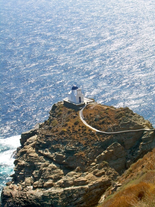 Little Church on a Cliff in Sifnos