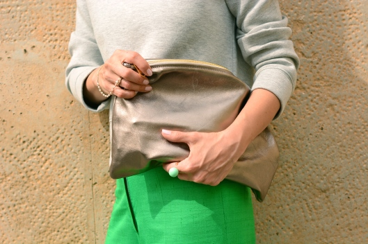 grey>green& american apparel bag