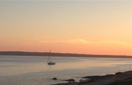 Sun setting in Formentera